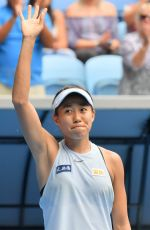 SHUAI ZHANG at 2018 Australian Open Tennis Tournament in Melbourne 01/15/2018