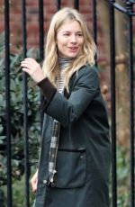 SIENNA MILLER Out in New York 01/12/2018