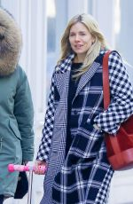 SIENNA MILLER Out in New York 01/19/2018