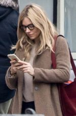 SIENNA MILLER Out in New York 01/23/2018