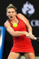 SIMONA HALEP at Australian Open Tennis Tournament in Melbourne 01/18/2018