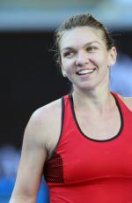 SIMONA HALEP at Australian Open Tennis Tournament in Melbourne 01/22/2018