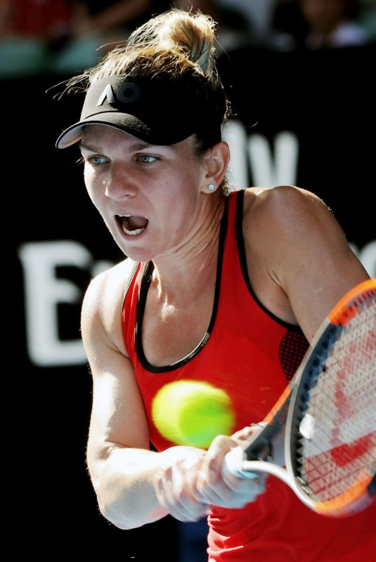 SIMONA HALEP at Australian Open Tennis Tournament in Melbourne 01/25/2018