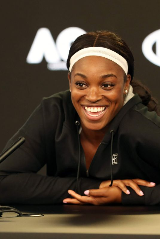 SLOANE STEPHENS at Australian Open Tennis Championships Press Conference in Melbourne 01/13/2018