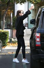 SOFIA RICHIE Out for Coffee from Starbucks in Calabasas 01/07/2018