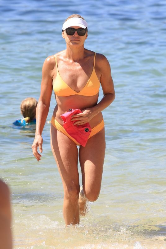 SONIA KRUGER in Bikini on the Beach in Sydney 01/07/2018