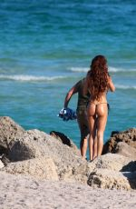 SONIA SARPE in Bikini on the Set of a Photoshoot at a Beach in Miami 01/17/2018