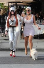SOPHIA VEGAS WOLLERSHEIM and PHOEBE PRICE Leaves Il Pastaio in Beverly Hills 01/15/2018