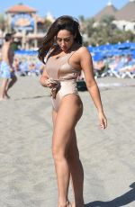 SOPHIE KASAEI in Swimsuit on the Beach in Lanzarote 01/24/2018