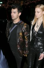 SOPHIE TURNER and Joe Jonas Night Out in New York 01/27/2018