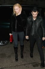 SOPHIE TURNER and Joe Jonas Out for Dinner in London 01/16/2018