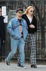 SOPHIE TURNER and Joe Jonas Out in New York 01/27/2018