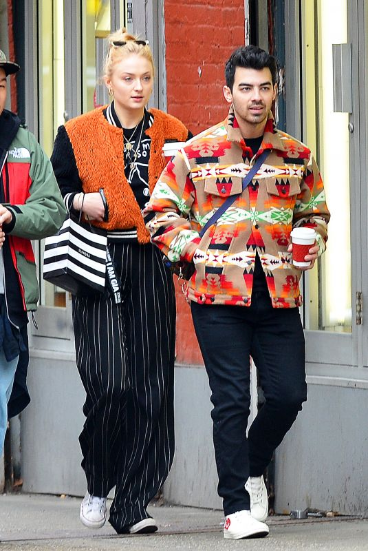 SOPHIE TURNER and Joe Jonas Out in New York 01/28/2018