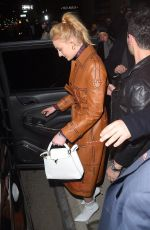 SOPHIE TURNER Leaves Republic Records Pre-Grammy Awards Party in New York 01/26/2018