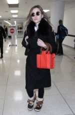 SUKI WATERHOUSE at Los Angeles International Airport 01/22/2018