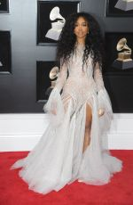 SZA at Grammy 2018 Awards in New York 01/28/2018