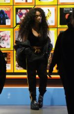 SZA Out and About in New York 01/24/2018