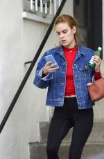 TALLULAH WILLIS Makeup Free Leaves a Gym in Los Angeles 01/22/2018