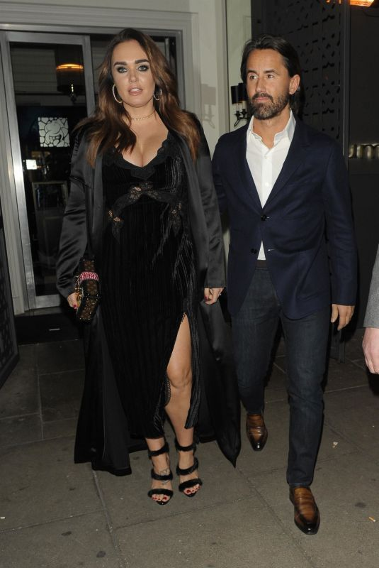 TAMARA ECCLESTONE Leaves Sumosan Wwiga Restaurant in London 01/26/2018
