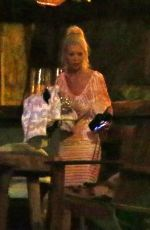 TARA REID Night Out at a Bar on New Year