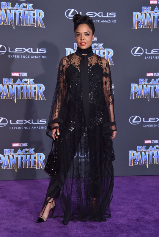 TESSA THOMPSON at Black Panther Premiere in Hollywood 01/29/2018