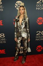 TIFFANY BOONE at Showtime Golden Globe Nominee Celebration in Los Angeles 01/06/2018