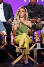 TIFFANY BOONE at The Chi Panel at TCA Winter Press Tour in Los Angeles 01/06/2018