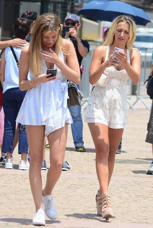 TIFFANY WATSON and FRANKIE GAFF Out on New Year's Day at Circular Quay in Sydney 01/01/2018