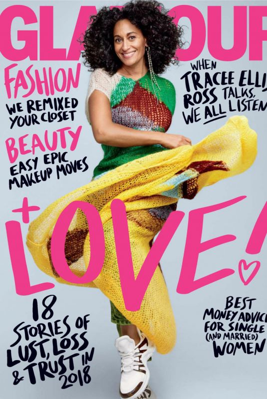 TRACEE ELLIS ROSS in Glamour Magazine, February 2018 Issue