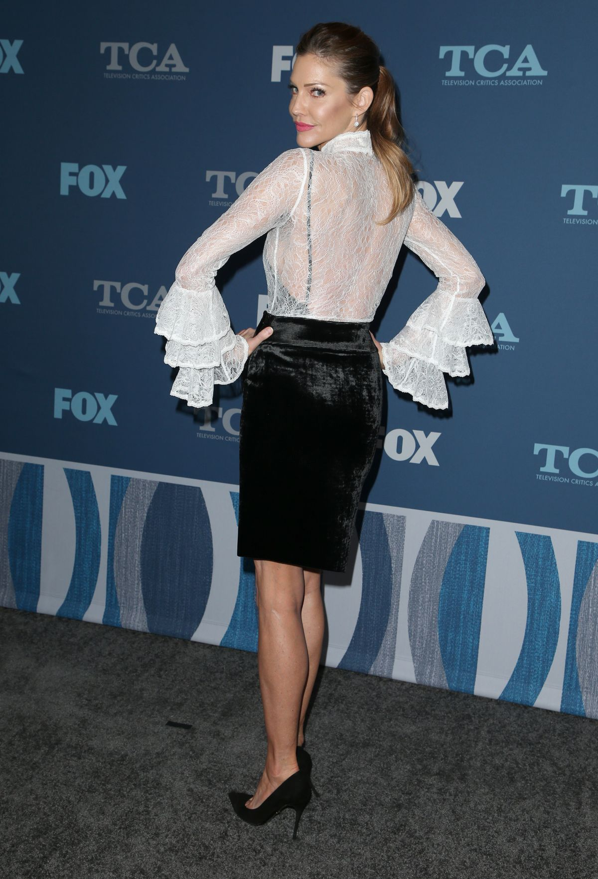 Tricia Helfer At Fox Winter All Star Party Tca Winter