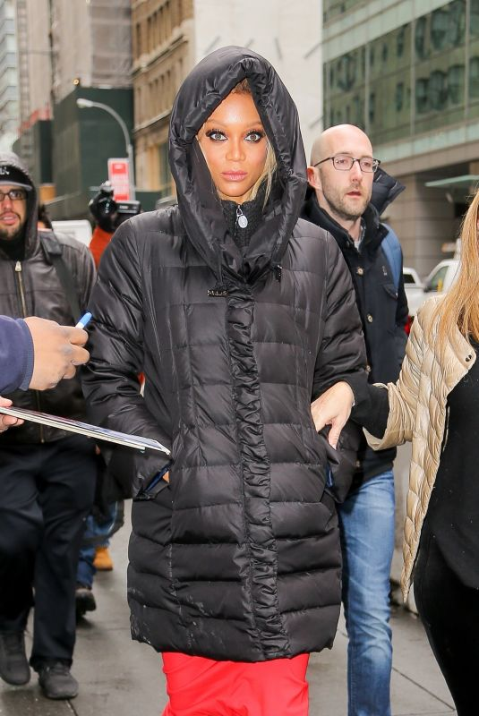 TYRA BANKS Arrives at Today Show in New York 01/08/2018