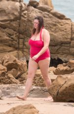 TZIPORAH MALKAH (KATE FISCHER) in Swimsuit on the Beach in South Australia 01/11/2018