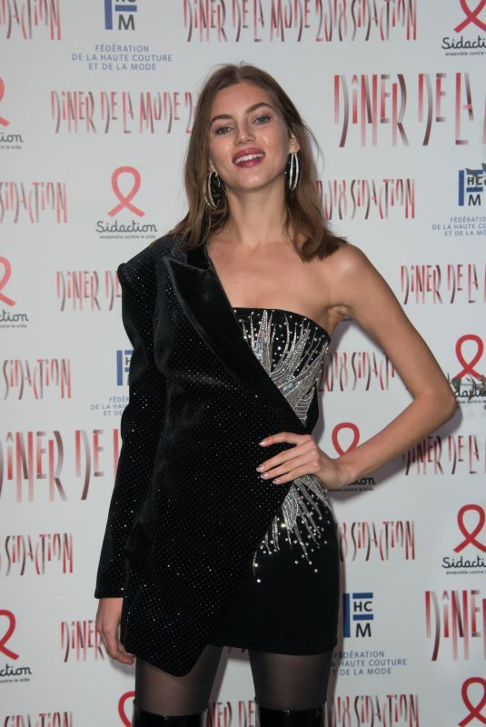 VALERY KAUFMAN at Sidaction Gala Dinner in Paris 01/25/2018