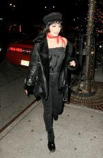 VANESSA HUDGENS Arrives at Bowery Hotel in New York 01/25/2018