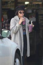 VANESSA HUDGENS Leaves Earthbar in Los Angeles 01/16/2018