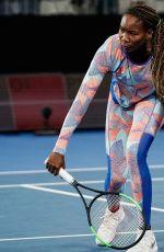 VENUS WILLIAMS at Practice Session at Australian Open Tennis Tournament in Melbourne 01/14/2018