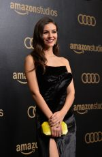 VICTORIA JUSTICE at Amazon Studios Golden Globes Celebration at Beverly Hilton Hotel 01/07/2018