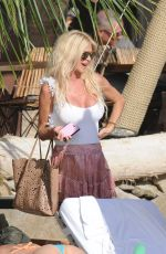 VICTORIA SILVSTEDT Out for Lunch at Shelona in St Barts 01/03/2018
