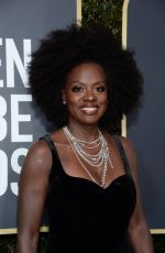 VIOLA DAVIS at 75th Annual Golden Globe Awards in Beverly Hills 01/07/2018