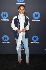 YARA SHAHIDI at 2018 Freeform Summit in Hollywood 01/18/2018