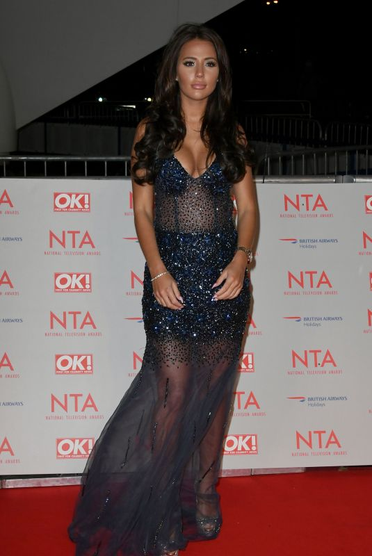 YAZMIN OUKHELLOU at National Television Awards in London 01/23/2018