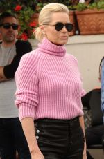 YOLANDA HADID Leaves Il Pistaio in Beverly Hills 01/30/2018