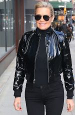 YOLANDA HADID Out and About in New York 01/24/2018