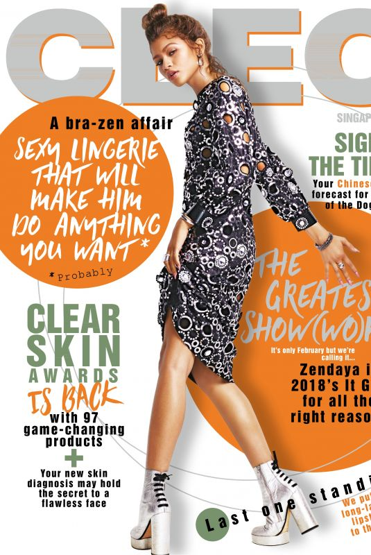 ZENDAYA COLEMAN in Cleo Magazine, Singapore February 2018