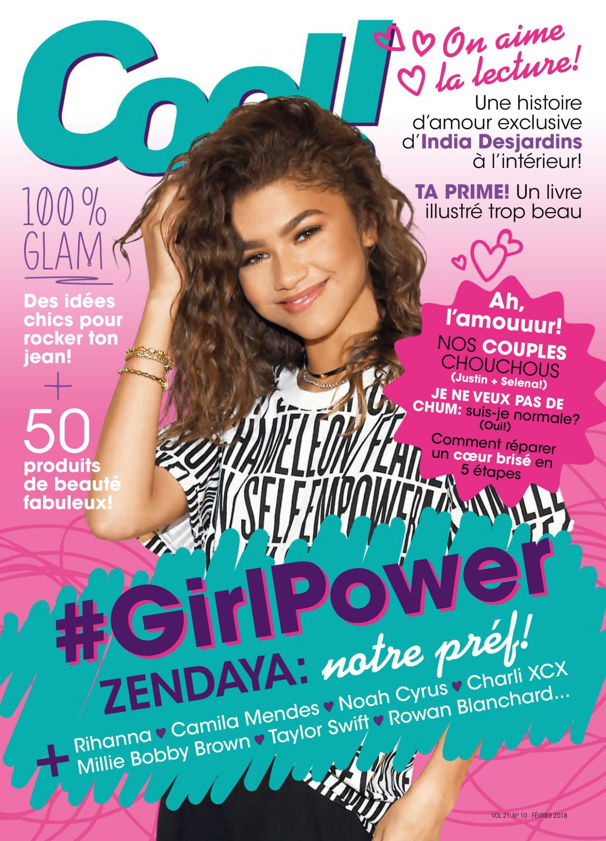ZENDAYA COLEMAN In Cool Magazine, Canada February 2018