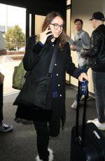 ZOE KAZAN at Salt Lake City International Airport in Park City 01/18/2018
