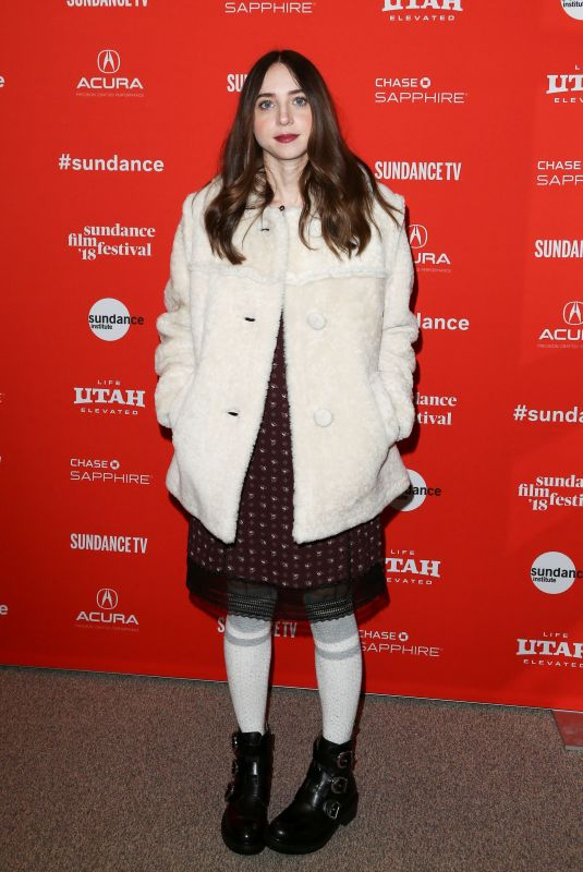 ZOE KAZAN at Wildlife Aafter Party at Chase Sapphire Lounge at Sundance Film Festival 01/20/2018