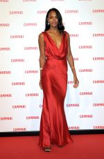 ZOE SALDANA at Campari Red Diaries Photocall in Milan 0130/2018