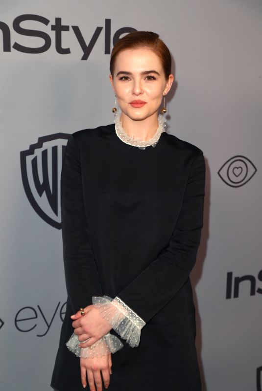 ZOEY DEUTCH at Instyle and Warner Bros Golden Globes After-party in Los Angeles 01/07/2018