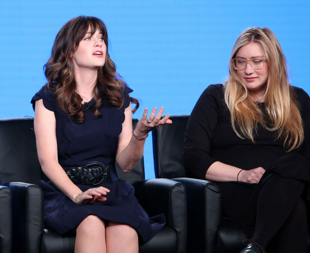 ZOOEY DESCHANEL at New Girl TV Show Panel at in Los ...